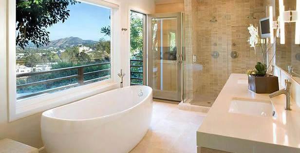 Bathroom transitional