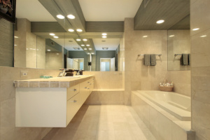 ceramic tile bathroom floor options